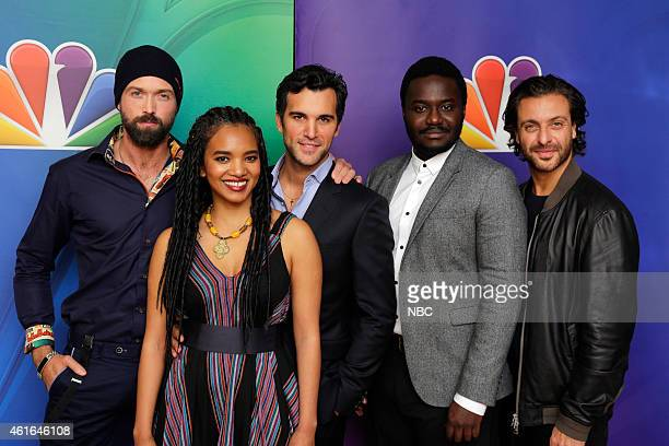 EVENTS NBCUniversal Press Tour January 2015 'AD' Pictured Emmet J Scanlan Chip Chung Juan Pablo di Pace Babou Ceesay Adam Levy