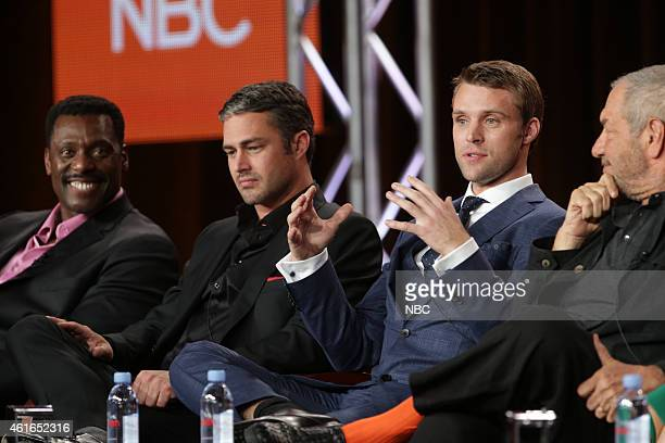 EVENTS NBCUniversal Press Tour January 2015 Chicago Fire/Chicago PD Session Pictured Eamonn Walker Taylor Kinney Jesse Spencer Dick Wolf Executive...