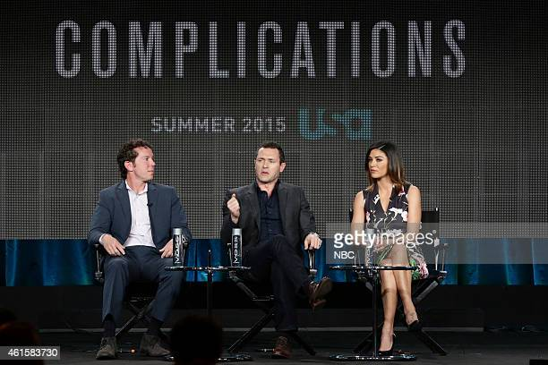 EVENTS NBCUniversal Press Tour January 2015 Complications Session Pictured Matt Nix Executive Producer Jason O'Mara Jessica Szohr