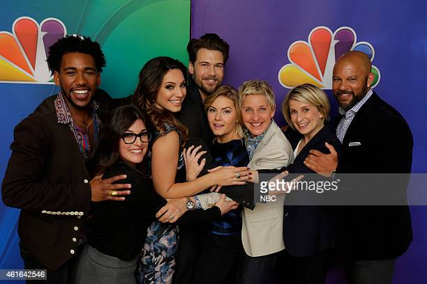 EVENTS NBCUniversal Press Tour January 2015 'One Big Happy' Pictured Brandon Smith Rebecca Corry Kelly Brook Nick Zano Elisha Cuthbert Ellen...