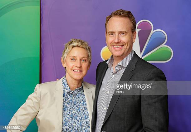 EVENTS NBCUniversal Press Tour January 2015 One Big Happy Pictured Ellen DeGeneres Executive Producer Bob Greenblatt Chairman NBC Entertainment