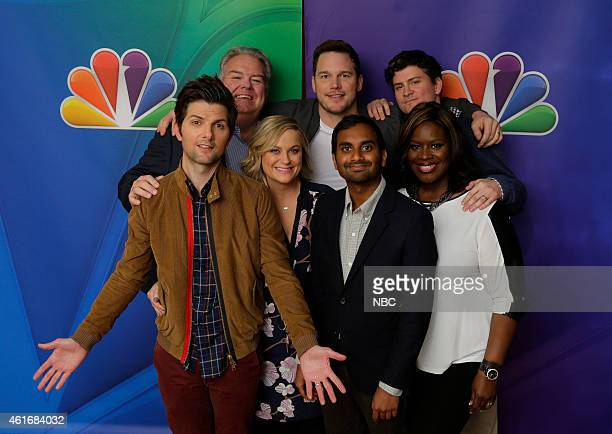 EVENTS NBCUniversal Press Tour January 2015 Parks and Recreation Pictured Adam Scott Jim O'Heir Amy Poehler Chris Pratt Aziz Ansari Mike Schur...