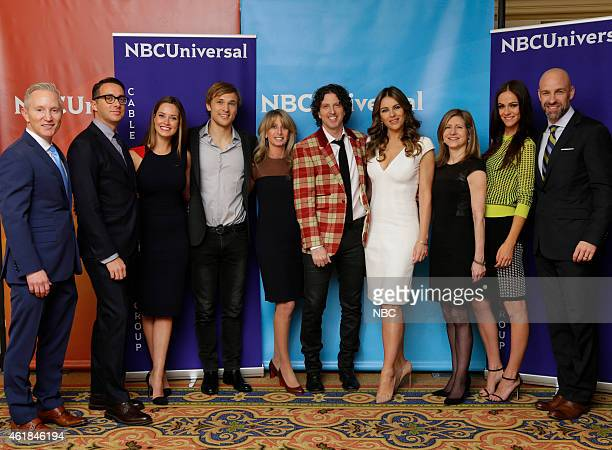 EVENTS NBCUniversal Press Tour January 2015 'The Royals' Pictured Jeff Olde Executive Vice President of Original Programming Development Adam Stotsky...