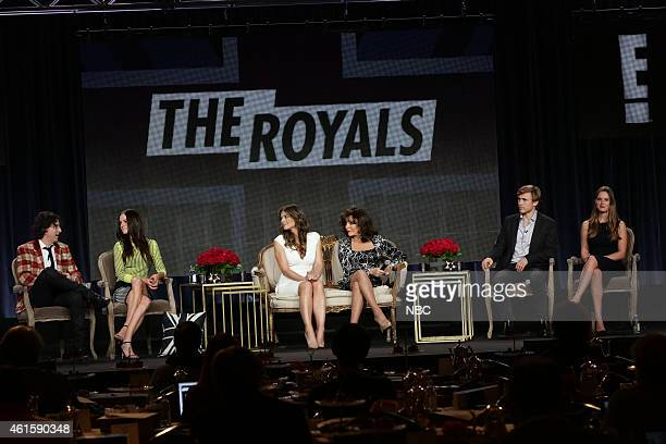 EVENTS NBCUniversal Press Tour January 2015 'The Royals' Session Pictured Mark Schwahn Executive Producer Alexandra Park Elizabeth Hurley Joan...
