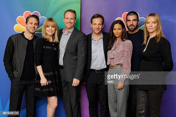 EVENTS NBCUniversal Press Tour January 2015 The Slap Pictured Thomas Sadoski Melissa George Robert Greenblatt Chairman NBC Entertainment Peter...