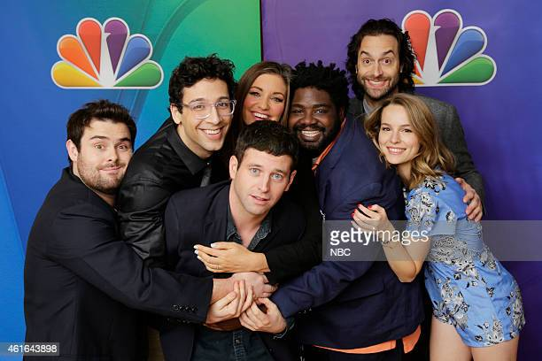 EVENTS NBCUniversal Press Tour January 2015 Undateable Pictured David Fynn Rick Glassman Bianca Kajlich Brent Morin Ron Funches Chris D'Elia Bridgit...