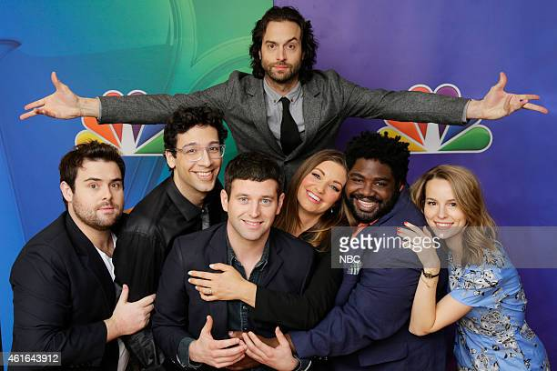 EVENTS NBCUniversal Press Tour January 2015 Undateable Pictured David Fynn Rick Glassman Brent Morin Chris D'Elia Bianca Kajlich Ron Funches Bridgit...