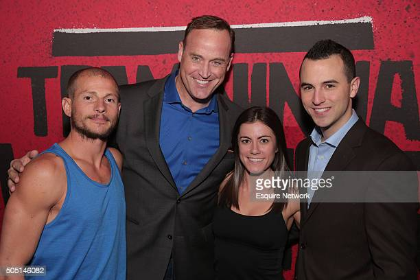 EVENTS NBCUniversal Press Tour January 2016 Esquire Network's 'Team Ninja Warrior' Activation Pictured Brent Steffenson Matt Iseman Host Kacy...