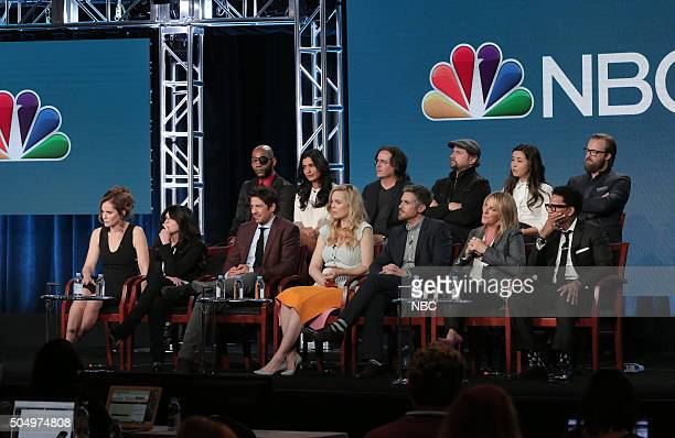 EVENTS NBCUniversal Press Tour January 2016 NBC's 'Heartbeat' Session Pictured Amy Brenneman Executive Producer Jill Gordon Executive Producer JLouis...