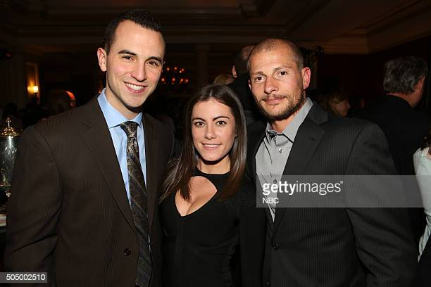 EVENTS NBCUniversal Press Tour January 2016 NBCUniversal Party Pictured Joe Maravsky Kacy Catanzaro Brent Steffenson 'Team Ninja Warrior'