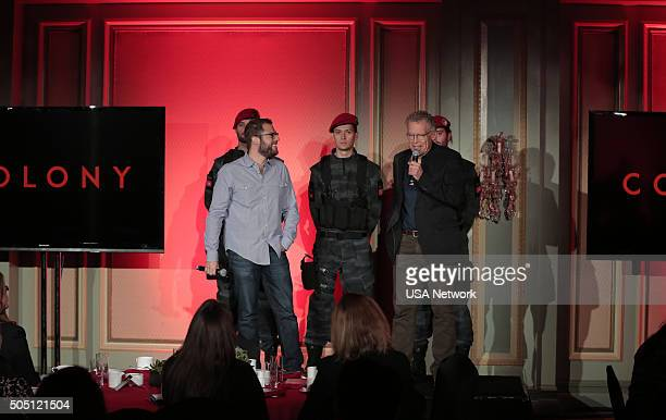EVENTS NBCUniversal Press Tour January 2016 USA Network's 'Colony Breakfast' Session Pictured Ryan Condal Carlton Cuse
