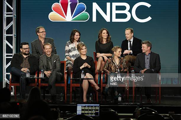 EVENTS NBCUniversal Press Tour January 2017 NBC's 'Great News' Session Pictured Back Jack Burditt Executive Producers Tracey Wigfield Executive...