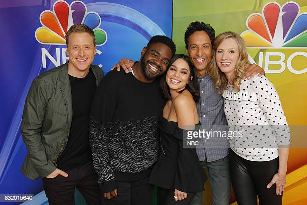 EVENTS NBCUniversal Press Tour January 2017 NBC's Powerless Pictured Alan Tudyk Ron Funches Vanessa Hudgens Danny Pudi Christina Kirk