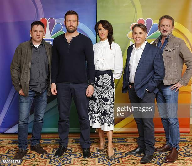 EVENTS NBCUniversal Press Tour January 2017 NBC's Taken Pictured Alex Cary Executive Producer Clive Standen Jennifer Beals Matt Gross Executive...