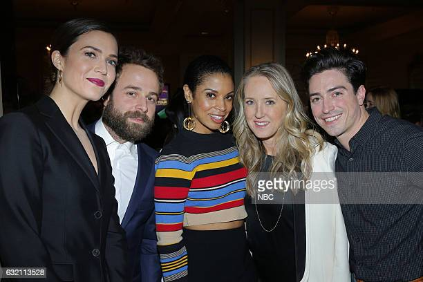 EVENTS NBCUniversal Press Tour January 2017 NBCUniversal Party Pictured Mandy Moore 'This Is Us' Taylor Goldsmith Susan Kelechi Watson 'This Is Us'...