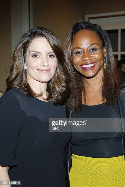 EVENTS NBCUniversal Press Tour January 2017 NBCUniversal Party Pictured Tina Fey Executive Producer'Great News' Pearlena Igbokwe President Universal...