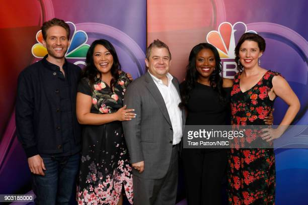 EVENTS NBCUniversal Press Tour January 2018 'AP Bio' Pictured Glenn Howerton Mary Sohn Patton Oswalt Lyric Lewis Jean Villepique