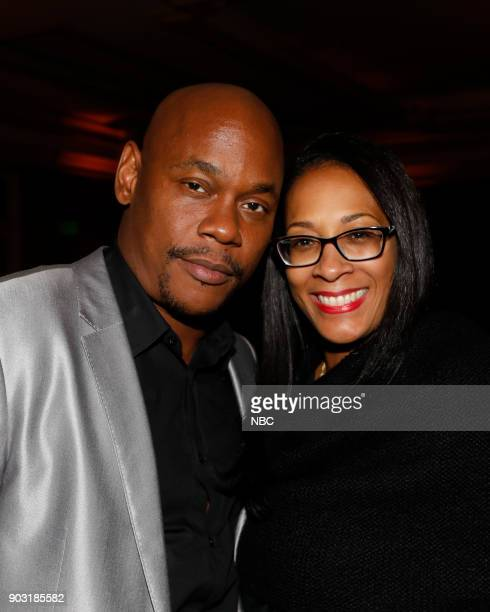 EVENTS NBCUniversal Press Tour January 2018 'CNBC's 'Jay Leno's Garage' Cocktail Reception' Pictured Bokeem Woodbine Lyah Beth LeFlore...