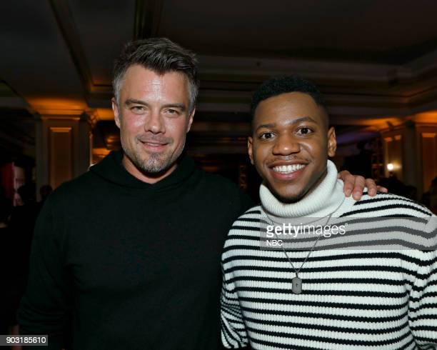 EVENTS NBCUniversal Press Tour January 2018 'CNBC's 'Jay Leno's Garage' Cocktail Reception' Pictured Josh Duhamel 'Unsolved The Murders of Tupac and...