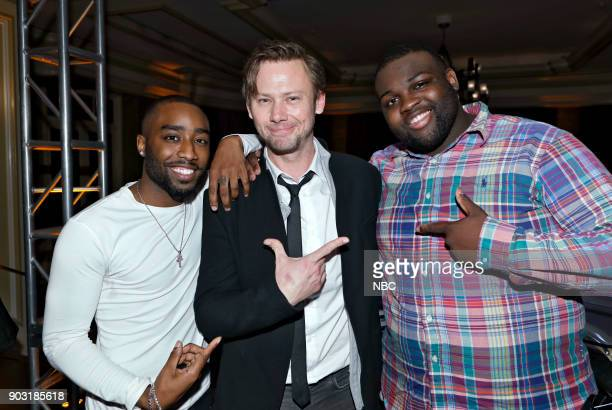 EVENTS NBCUniversal Press Tour January 2018 'CNBC's 'Jay Leno's Garage' Cocktail Reception' Pictured Marcc Rose Jimmi Simpson Wavyy Jonez 'Unsolved...