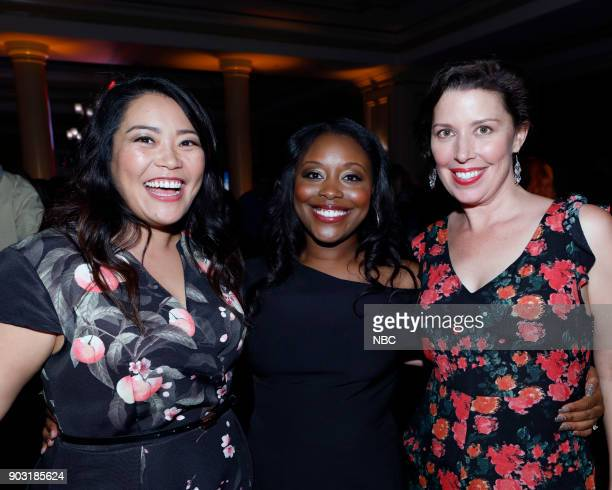 EVENTS NBCUniversal Press Tour January 2018 'CNBC's 'Jay Leno's Garage' Cocktail Reception' Pictured Mary Sohn Lyric Lewis Jean Villepique 'AP Bio'