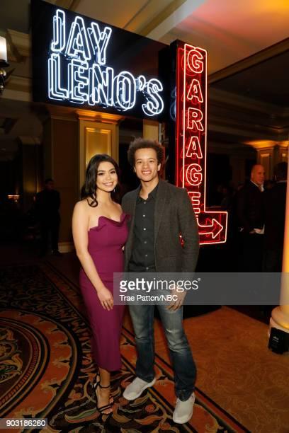 EVENTS NBCUniversal Press Tour January 2018 'CNBC's 'Jay Leno's Garage' Cocktail Reception' Pictured Auli'i Cravalho Damon J Gillespie NBC's 'Rise'