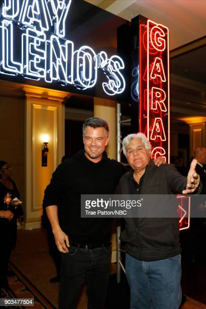 EVENTS NBCUniversal Press Tour January 2018 'CNBC's 'Jay Leno's Garage' Cocktail Reception' Pictured Josh Duhamel Jay Leno