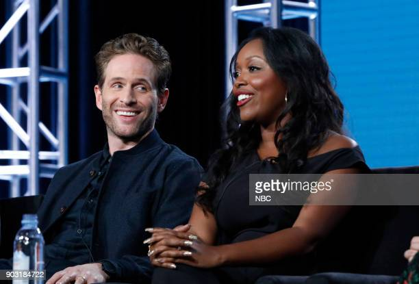 EVENTS NBCUniversal Press Tour January 2018 NBC's 'AP Bio' Session Pictured Glenn Howerton Lyric Lewis