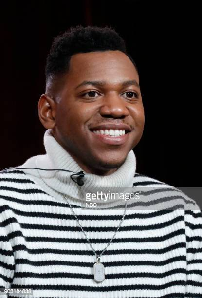 EVENTS NBCUniversal Press Tour January 2018 NBC's 'The Voice' Session Pictured Chris Blue Season 12 Winner