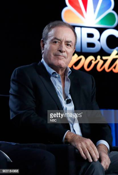 EVENTS NBCUniversal Press Tour January 2018 'Super Bowl LII' Session Pictured Al Michaels PlaybyPlay Sunday Night Football Super Bowl LII