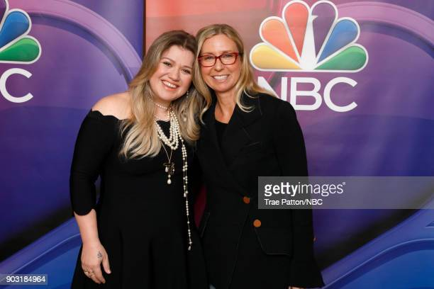 EVENTS NBCUniversal Press Tour January 2018 'The Voice' Pictured Kelly Clarkson Audrey Morrissey Executive Producer