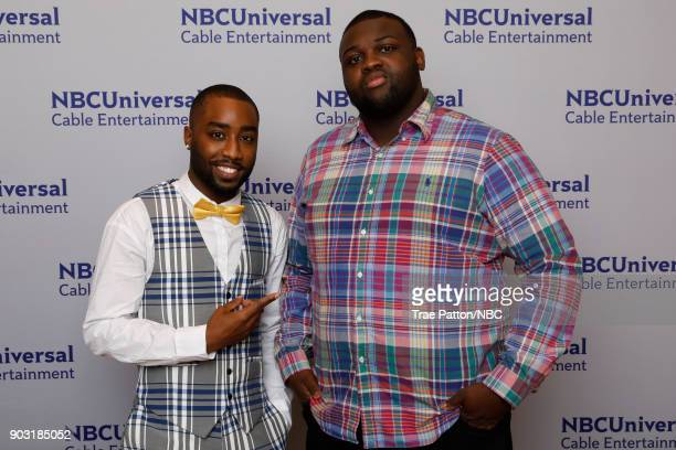 EVENTS NBCUniversal Press Tour January 2018 'Unsolved The Murders of Tupac and The Notorious BIG' Pictured Marcc Rose Wavvy Jonez