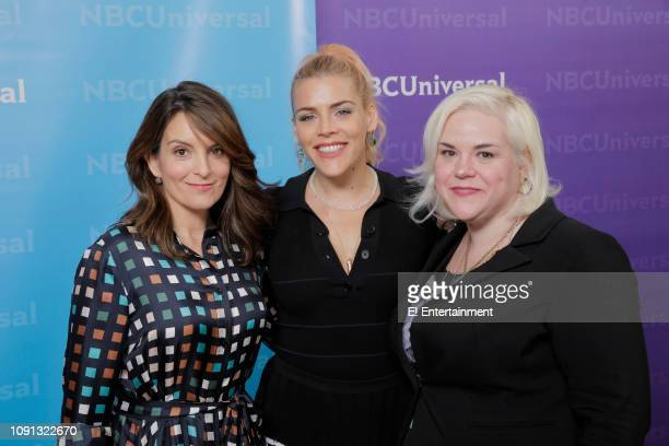 EVENTS NBCUniversal Press Tour January 2019 E Entertainment's Busy Tonight Pictured Tina Fey Executive Producer Busy Philipps Host and Executive...