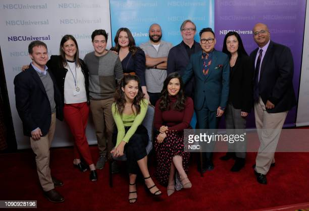 EVENTS NBCUniversal Press Tour January 2019 NBC's Superstore Pictured top row Justin Spitzer Executive Producer Entertainment Lisa Katz CoPresident...