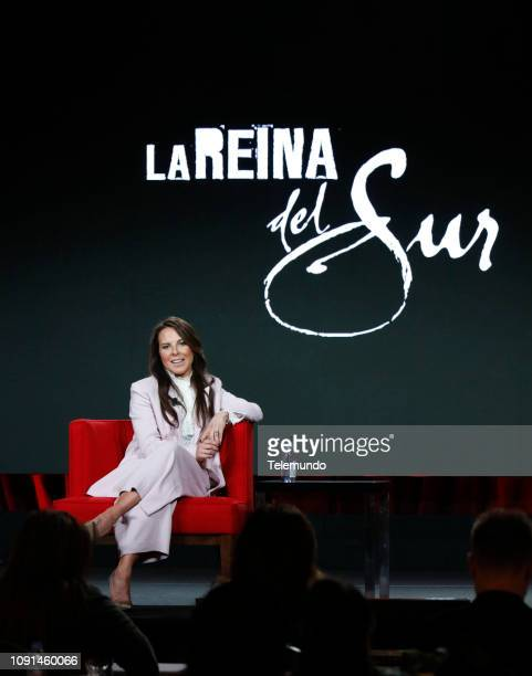 "NBCUniversal Press Tour, January 2019 -- Telemundo's ""La Reina del Sur"" Panel -- Pictured: Kate del Castillo --"