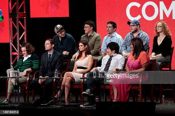 """NBCUniversal Press Tour July 2012 -- """"Animal Practice"""" Session -- Pictured: top row Scot Armstrong, Executive Producer; Anthony Russo, Executive..."""
