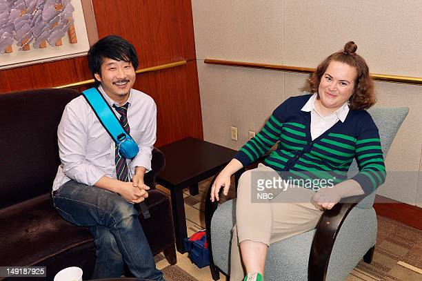 """NBCUniversal Press Tour July 2012 -- """"Behind the Scenes"""" -- Pictured: Bobby Lee, Betsy Sodaro, """"Animal Practice"""" --"""