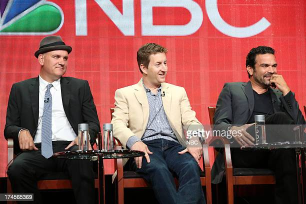 EVENTS NBCUniversal Press Tour July 2013 The Michael J Fox Show Session Pictured Mike O'Malley Mike Sikowitz Executive Producer Ricardo A Chavira