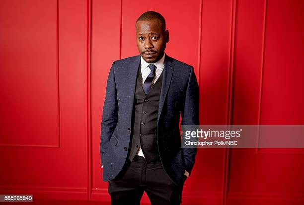 EVENTS NBCUniversal Press Tour Portraits AUGUST 02 2016 Actor Malcolm Barrett of 'Timeless' poses for a portrait in the the NBCUniversal Press Tour...