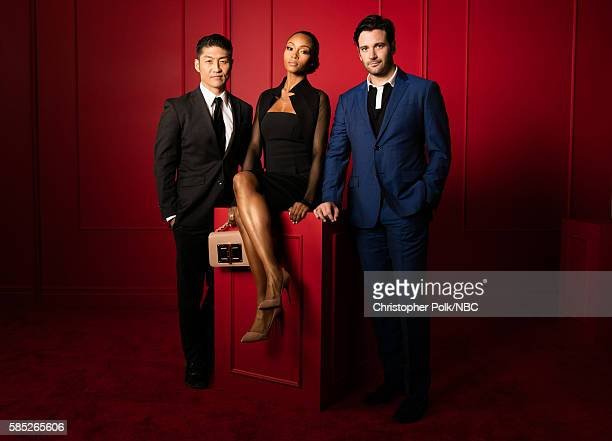 EVENTS NBCUniversal Press Tour Portraits AUGUST 02 2016 Actors Brian Tee Yaya Dacosta and Colin Donnell of 'Chicago Med' pose for a portrait in the...