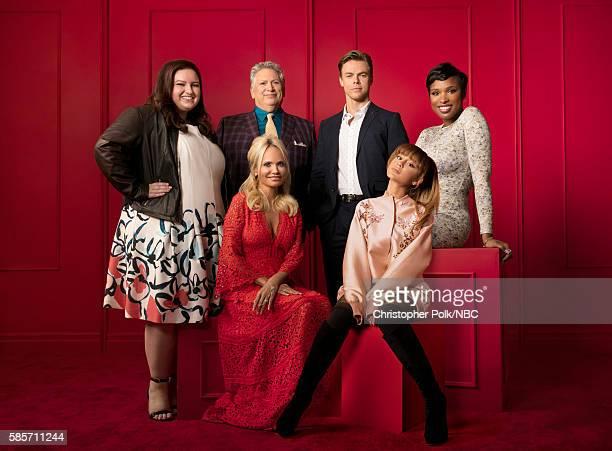 EVENTS NBCUniversal Press Tour Portraits AUGUST 02 2016 Actors Maddie Baillio Harvey Fierstein Kristin Chenoweth Derek Hough Ariana Grande and...