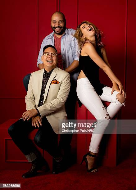 EVENTS NBCUniversal Press Tour Portraits AUGUST 02 2016 Actors Nico Santos Colton Dunn and Nichole Bloom of 'Superstore' pose for a portrait in the...