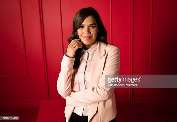 EVENTS NBCUniversal Press Tour Portraits AUGUST 02 2016 Actress America Ferrera of 'Superstore' poses for a portrait in the the NBCUniversal Press...