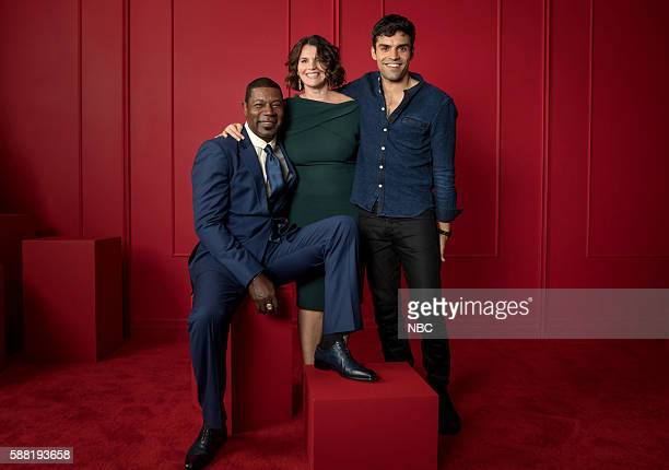 """NBCUniversal Press Tour Portraits, AUGUST 03, 2016: Actors Dennis Haysbert, Julia Ormond and Sean Teale of """"Incorporated"""" pose for a portrait in the..."""