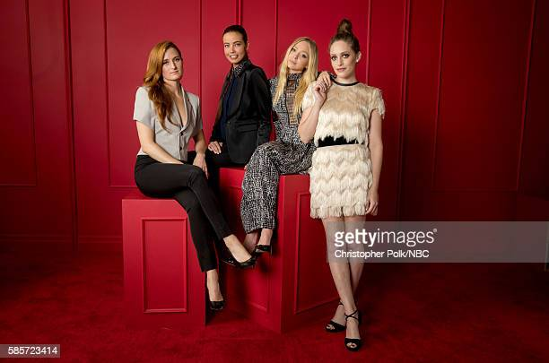 EVENTS NBCUniversal Press Tour Portraits AUGUST 03 2016 Actors Grace Gummer Stephanie Corneliussen Portia Doubleday and Carly Chaikin of 'Mr Robot'...