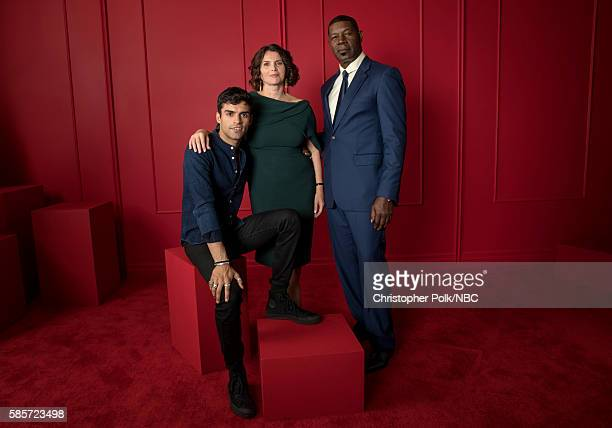 EVENTS NBCUniversal Press Tour Portraits AUGUST 03 2016 Actors Sean Teale Julia Ormond and Dennis Haysbert of Incorporated pose for a portrait in the...
