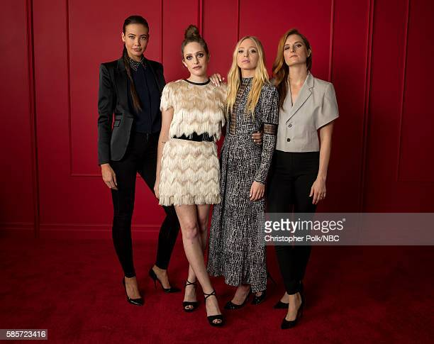 EVENTS NBCUniversal Press Tour Portraits AUGUST 03 2016 Actors Stephanie Corneliussen Carly Chaikin Portia Doubleday and Grace Gummer of Mr Robot...