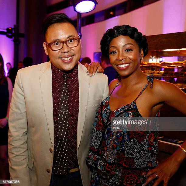 EVENTS NBCUniversal Short Film Festival 2016 Pictured Nico Santos Bresha Webb Presenters
