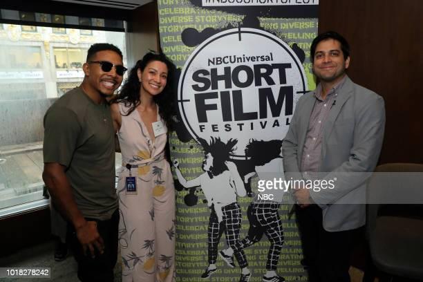 EVENTS NBCUniversal Short Film Festival Pictured Allen Maldonado Jandiz Cardoso Adam Moore