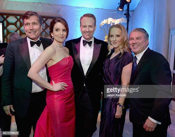 HILLS CA JANUARY NBCUniversal Steve Burke host Tina Fey Chairman NBC Entertainment Rob Greenblatt President NBC Entertainment Jennifer Salke and...